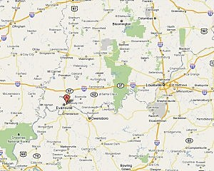 evansville map