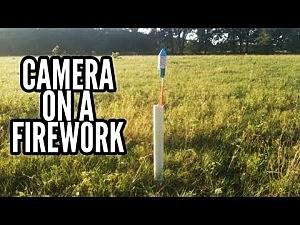 Camera on firework