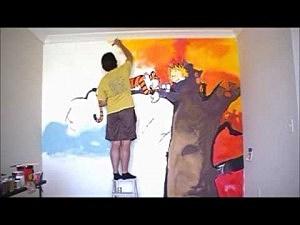 Dad Of The Year Paints U0027Calvin U0026 Hobbesu0027 Mural On Sonu0027s Wall Part 85