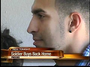 Soldier buys back family home