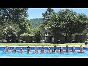 Kids create water show