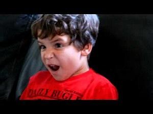 Kid reacts to Darth Vader