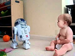 Baby and R2D2