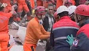 Infant pulled from rubble