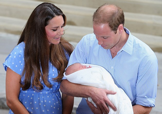 William, Kate and son