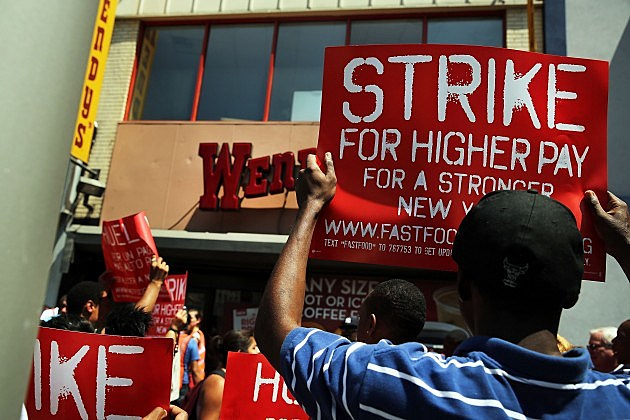 Wage protest