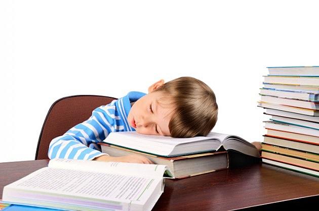 Kids asleep in class