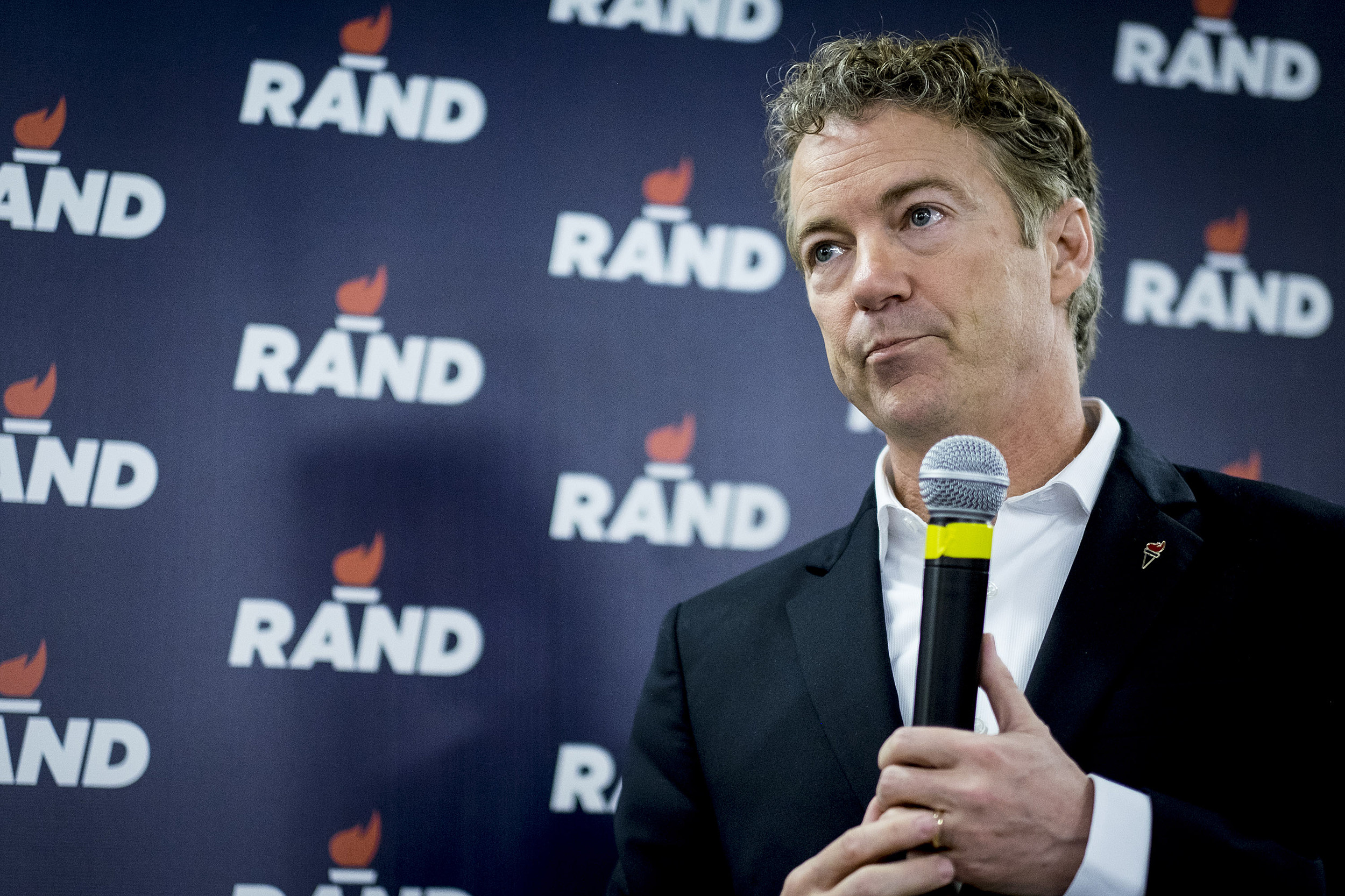 Rand Paul Holds Caucus Day Rally In Des Moines