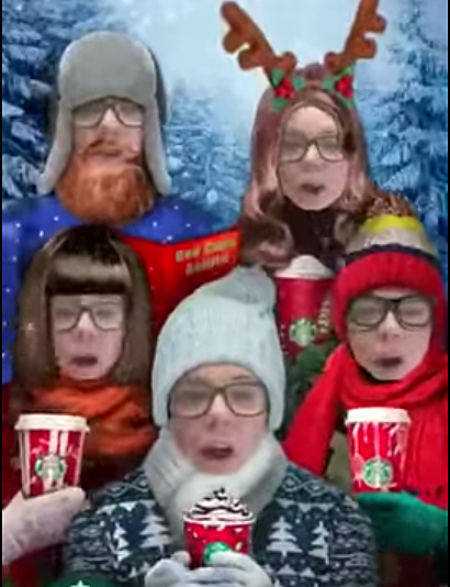 Starbucks Celebrate Christmas Cups with Crazy Snapchat Filter [WATCH]